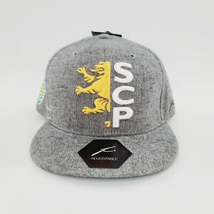 Sporting Lisbon Portugal Fi Collection Team Snapback Adjustable Hat Gray NWT