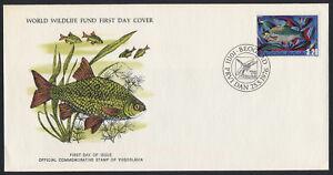 Yugoslavia 1296 on FDC - Fish, WWF