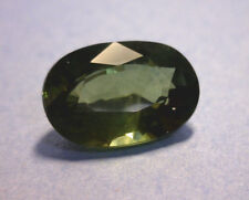 2.87 CT CERTIFIED OVAL NATURAL GREEN SAPPHIRE, HEATED, THAILAND