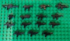 LEGO Star Wars Minifigure Blaster Guns LOT of 15 all 3 sizes weapons halo