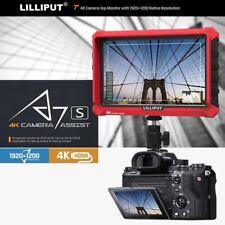 "Lilliput A7s 7"" 4K HDMI DSLR Mirrorless Camera field monitor W/12V adapter LP-E6"