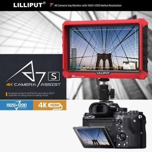 "Lilliput A7s 7"" 4K HDMI DSLR Mirrorless Camera field monitor Sony A7 A7R A7S II"