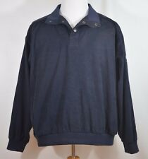 Weatherproof Pullover Golf Wind Shirt Jacket Navy Men's L Andy Russell Classic