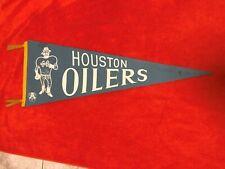 1960's VINTAGE HOUSTON OILERS ORIGINAL AFL FULL SIZE PENNANT