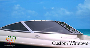 Custom Made Windows for Boats, Caravans, Race Cars, Polycarbonate & Acrylic