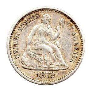 KM# 91 - Half Dime - Seated Liberty - USA 1872 (VF)