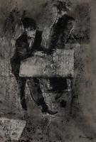 GIACOMO PORZANO (1925 - 2006) Senza Titolo 1954 Dipinto Tecnica Mista su Carta
