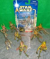 Star Wars AOTC Geonosian + Massiff Action Figure Lot - Used