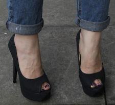 NUOVA linea donna con tacco alto a corte peep toe Pompe Scarpe Misura UK 8 EU 41