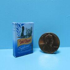 Dollhouse Miniature Detailed Replica Purina Cat Chow Seafood Sensations Box
