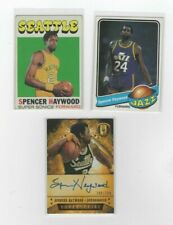 SPENCER HAYWOOD 2013-14 GOLD STANDARD AUTOGRAPH #208/299 w/ 71-72, 79-80 TOPPS