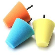 1Pc Polishing Sponge Cone Metal Foam Pad Car Wheel Hub Care Polish Buffing Shank