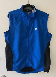 Pearl Izumi Wind Barrier Cycling Vest Mesh Back / Blue Full Zip Mens XL - Note