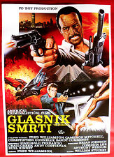 THE MESSENGER 1986 FRED WILLIAMSON CHRISTOPHER CONNELLY  EXYU MOVIE POSTER