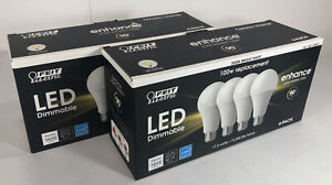 4 Ct FEIT ELECTRIC Dimmable LED 3000K Bright White 100W Replacement Light Bulbs