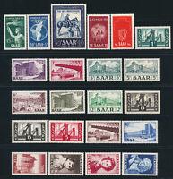 SAARLAND 1952, Jahrgang komplett tadellos postfrisch, Mi. 100,-