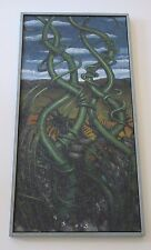LARGE LONG SURREALISM PAINTING ORGANIC MODERNISM VINES ABSTRACT DUSSO STYLE ART