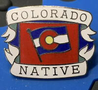 1980's Vintage Mafco Colorado Native (Large) hat pin, lapel, tac New!