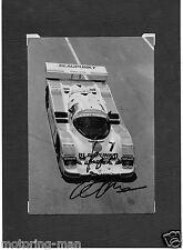 De Joest Porsche 962 Blaupunkt Bob Wollek firmado autografiado fotografía Sachs