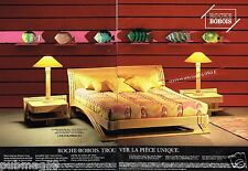 Publicité advertising 1990 (2 pages) Mobilier Meuble Lit Roche Bobois