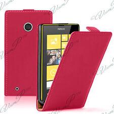 Accessoires Etui Coque Housse Pu Vrai cuir ROUGE Nokia Lumia 530/ 530 Dual Sim