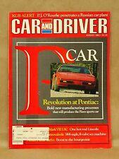 Vtg Car & Driver Magazine August 1983 Pontiac Fiero Lincoln Nissan Ferrari BMW