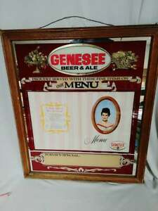 Rare Genesee Beer Mirror Menu Sign With Miss Jenny Song Lyrics - Mint Framed