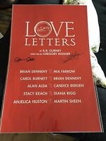 LOVE LETTERS! Signed!-Alda & Candice Bergen! Broadway Window Card