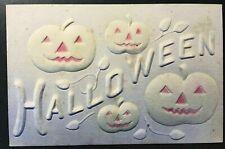 Halloween HIGHLY EMBOSSED Monochrome Airbrushed JOLs 1910 Unused -c515