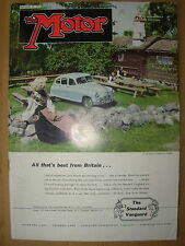VINTAGE MOTOR MAGAZINE JANUARY 30 1952 THE STANDARD VANGUARD