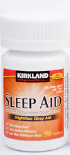 Kirkland Sleep Aid (Doxylamine succinate) 25 mg 96 Tablets - Exp 05/2019
