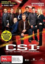CSI: Crime Scene Investigation : Series 3 (DVD, 2006, 6-Disc Set) New Unsealed