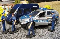 POLIZEI Van TRANSPORTER + BMW X5 & FIGUREN 1:32 für Carrera TOP DEKORATION 55035