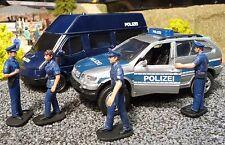 Polizia van transporter + BMW x5 & figure 1:32 per Carrera Top Decorazione 55035