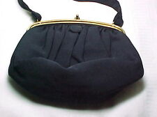 Best & Co Fifth Ave New York Vintage Evening Bag, Navy Blue, Nice~