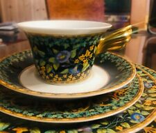 New Rosenthal Versace GOLD IVY Cup and Saucer perfect !! 2 available