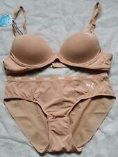 Puma Padded Bra Pant [ bikini ] Nude Colour Set New size 80A