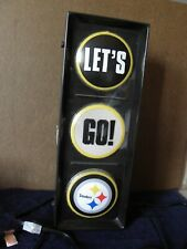 Pittsburgh Steelers LETS-GO-STEELERS traffic light