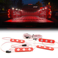 Xprite 4PC 12 LED Rock Lights Under Body Strip Pod Panel 4X4 Off Road Jeep Red