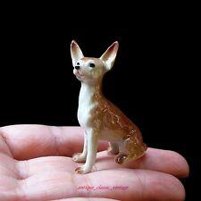 New Dollhouse Miniature Chihuahua Dog Ceramic Figurine Sculpture Hand Painted