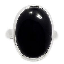 Black Onyx 925 Silver Ring Jewelry s.8.5 SSS BOXR1411