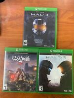 Xbox One Game Bundle; Halo 5, Halo Wars 2, Halo The Master Chief Collection