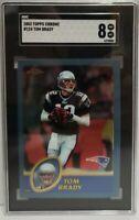 2003 Topps Chrome Tom Brady #124 SGC 8 NM-MT New England Patriots 3rd Year Tampa