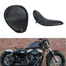 Motorcycle PU Leather Solo Seat For Harley Davidson XL Sportster Chopper Bobber