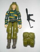 1988 GI Joe Tiger Force Dusty Desert Trooper v2 Action Figure Broken w/ Backpack