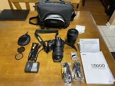 Nikon D5000 camera w/bag and both 18-55 and 55-200 VR lens  546 shutter count
