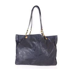 Vintage Chanel Large Logo Chain Black Square Hand Bag. NFV5120 be798a547d