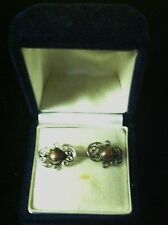 Earrings Marked 980 Jmd Guez Vintage Sterling Silver Screw Back Taxco