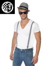 Mens 80s Ska Kit Hat Tie Braces Glasses 70's 80's Caribbean Reggae Fancy Dress