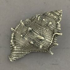 Vintage Buccellati Sterling Silver Figural Conch Shell Signed 999 Italy